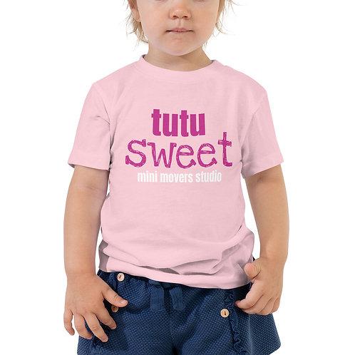 """""""Tutu Sweet"""" Toddler Pink Tee"""