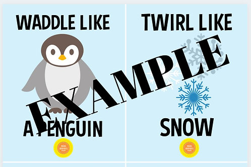 Winter Themed Movement Cards - Small
