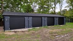 4 Trojon roller doors in black