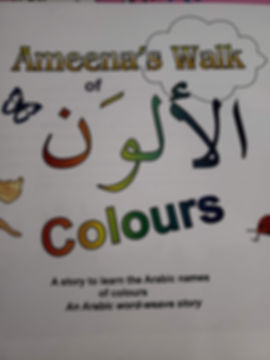 Arabic English storybook about colors