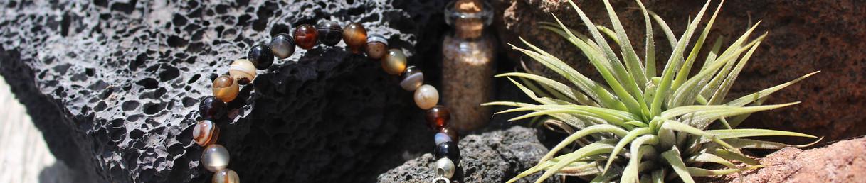 bracelet pierre marron