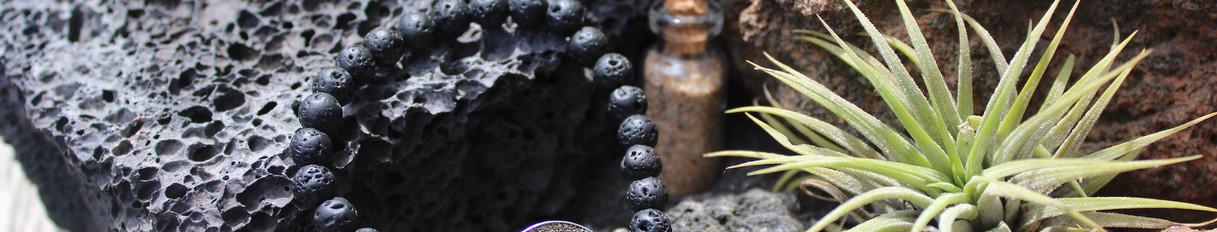 bracelet pierre lave