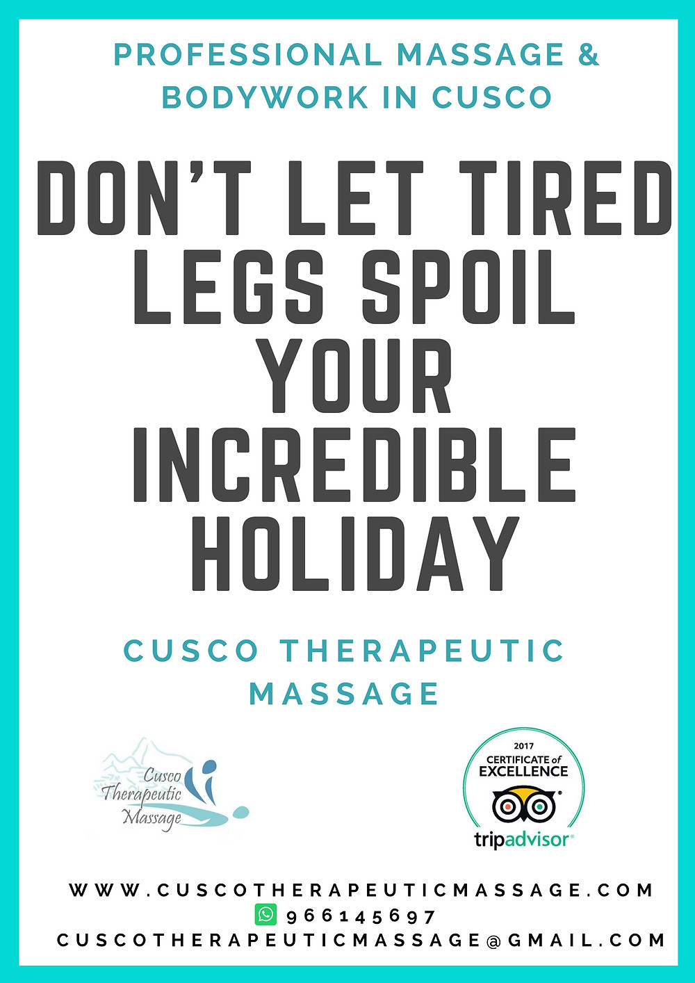 Sore legs after trekking in Cusco?