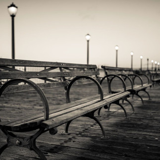 Benches on a pier
