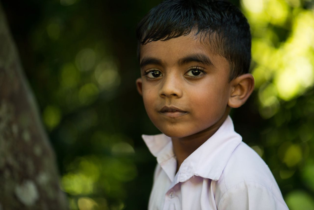 Sri Lankan school boy
