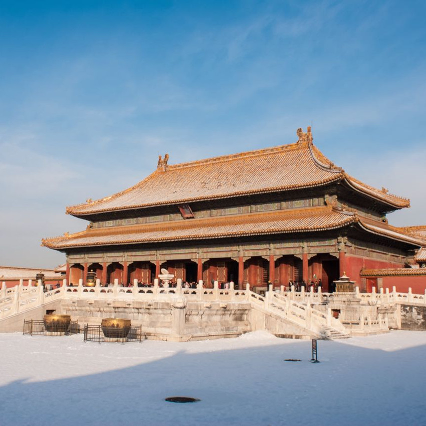 Snowy forbidden city