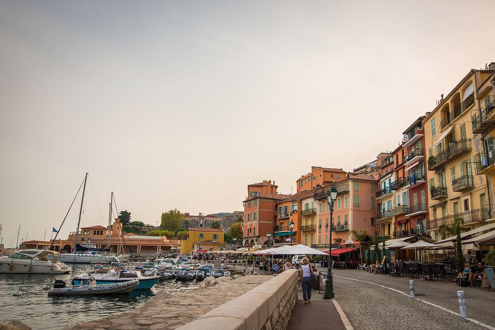French riviera harbor waterfront