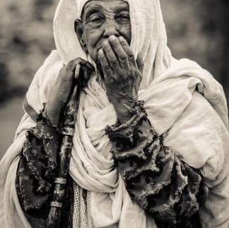 Ethiopian elderly lady