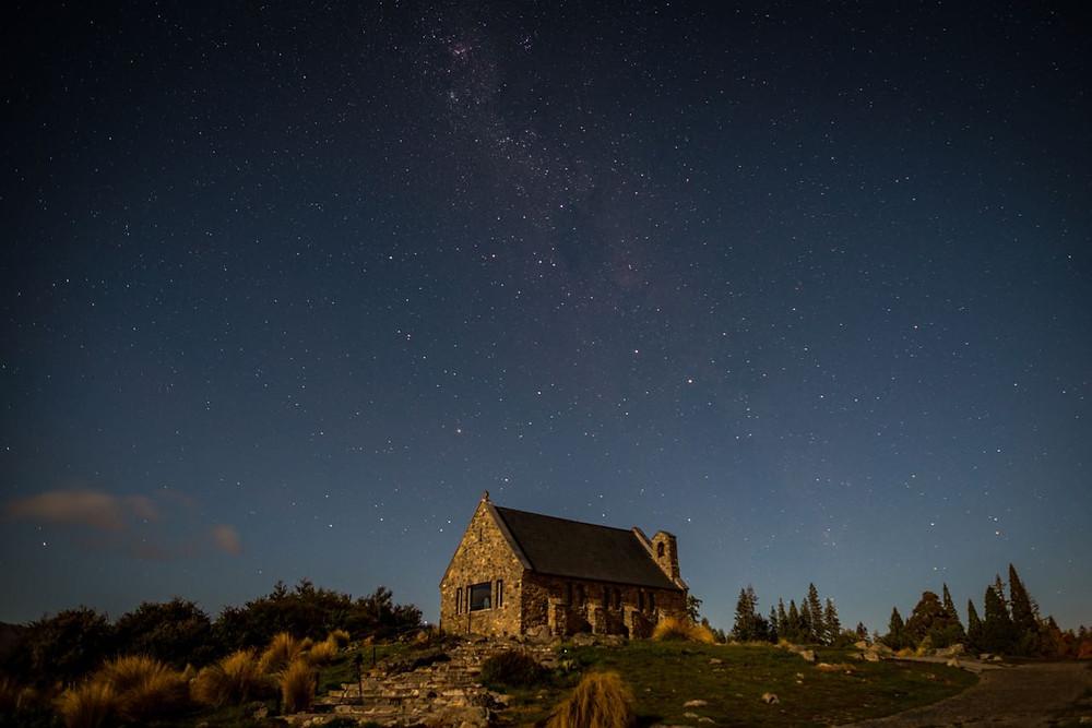 Astral photography at Lake Tekapo