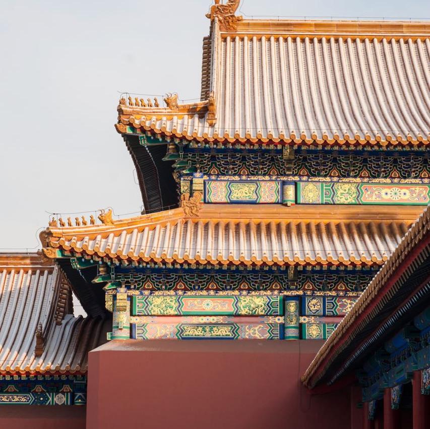 Snowcapped Forbidden city