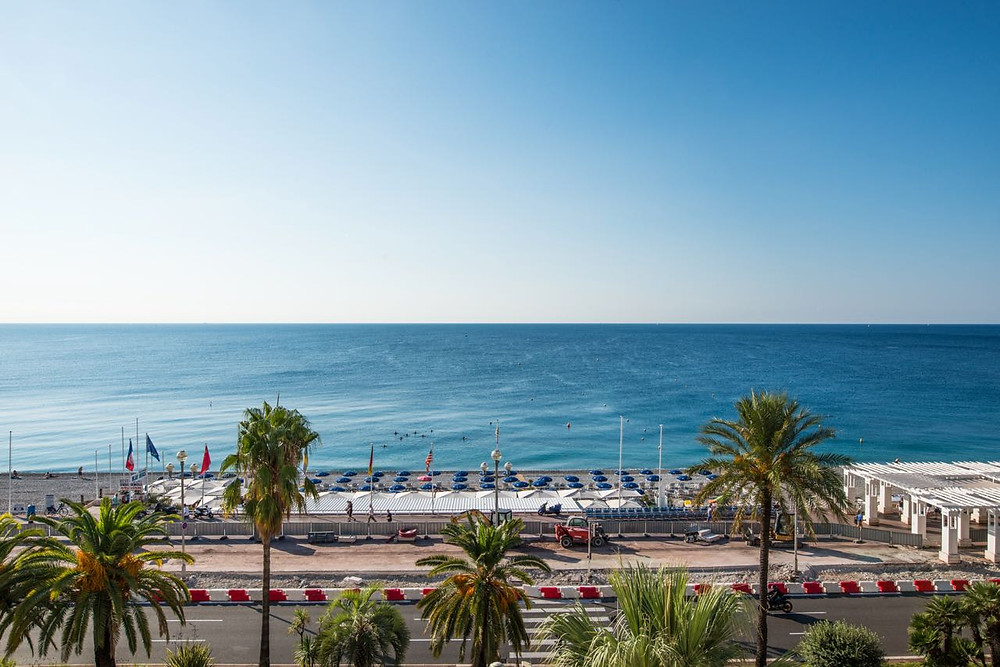 coastal view in Nice, Southern France