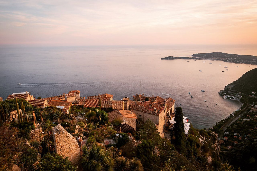 Sunset at Eze, Southern france