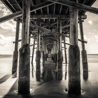 Under the pier Newport beach
