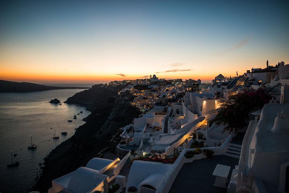 Oia, sunset Santorini