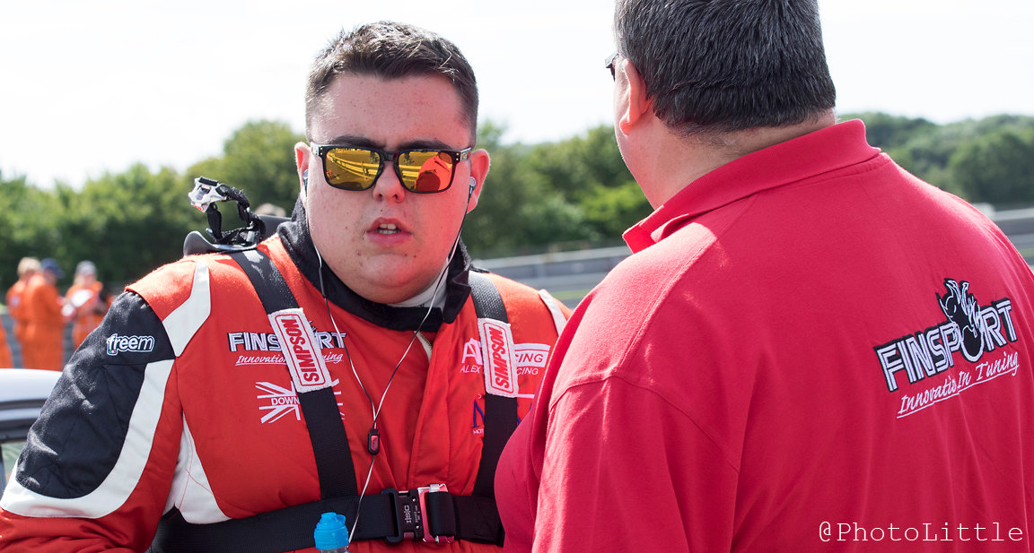 Alex before the race at Thruxton 2016