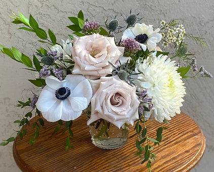Quicksand Roses and Panda Anemones Flower Arrangement for delivery in Gilbert