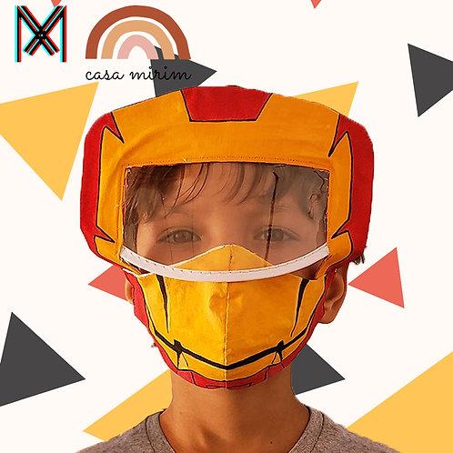 Super máscara Homem de Ferro 3d-Viseira