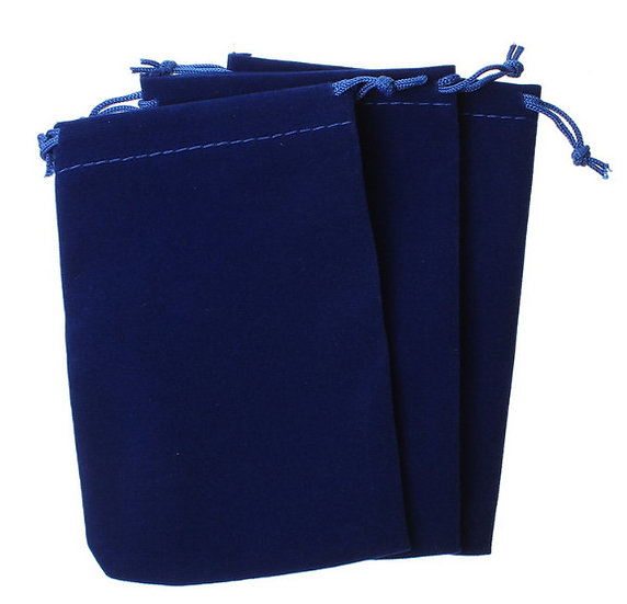 Мешочек синий бархат  10х15