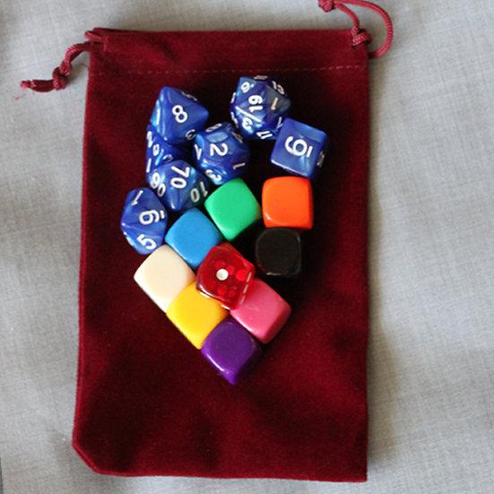 Набор для игр: кубик, фишки, мешок