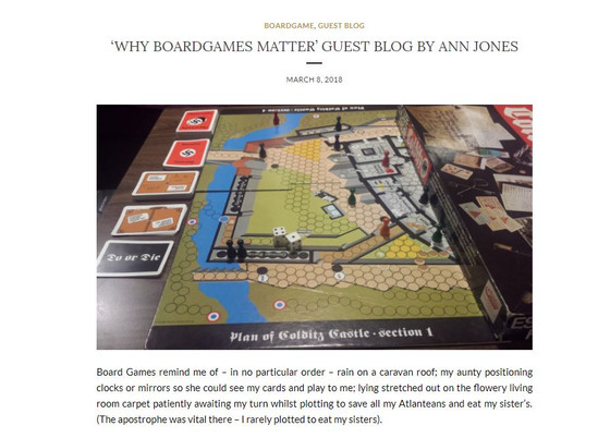 Why Board Games Matter - A Guest Blog on Katie's Game Corner