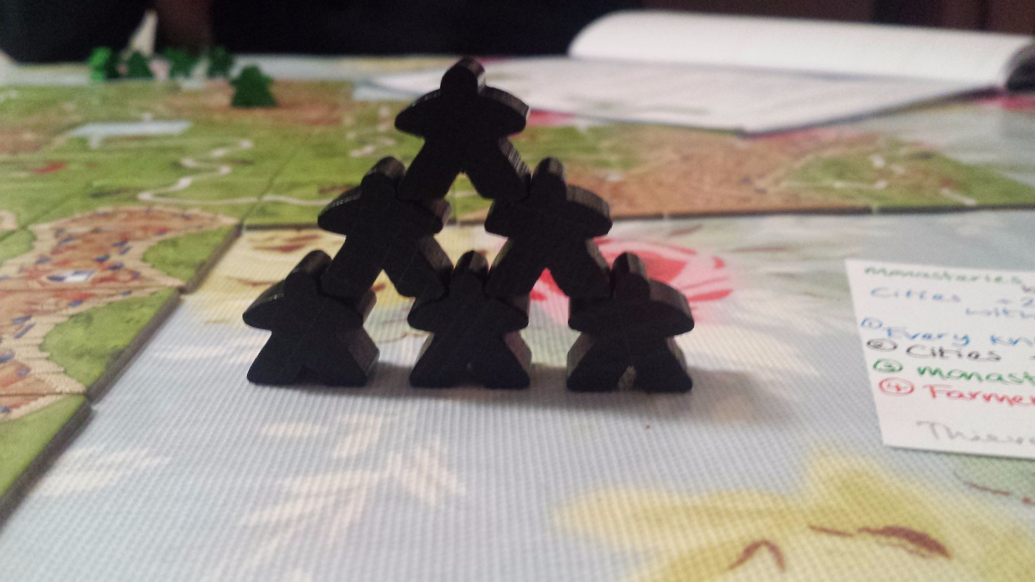 Tower of goth meeples