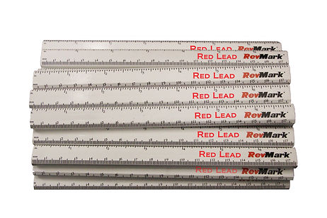 White Red Lead Carpenter Pencils with Ru