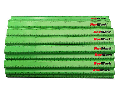 Neon Green Carpenter Pencils with Ruler.