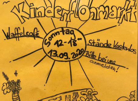 Save the Date! 2. Kinderflohmarkt 2020