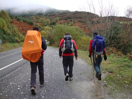 Mochilas no Caminho de Santiago de Compostela