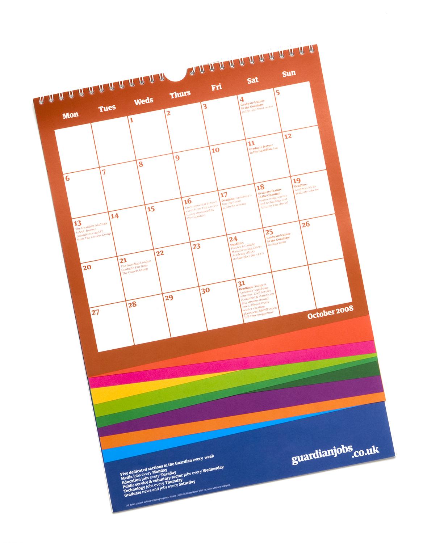 The Guardian graduate calendar