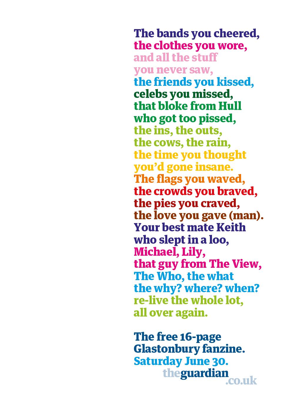 The Guardian Glastonbury Fanzine