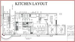 Layout & Diseño cocina Patio Central