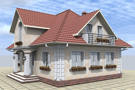 house with pitched roof