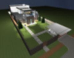 detached house on a narrow plot
