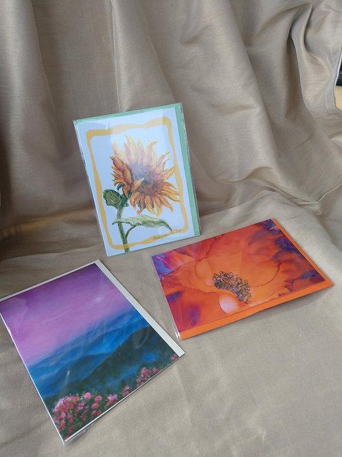 Brass 3 Card print set