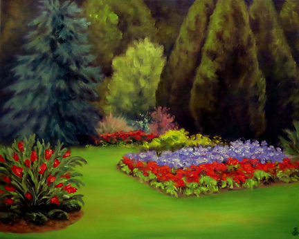 Glowing Garden 16x20 oil on canvas $450