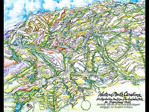 Mountain Map of WNC