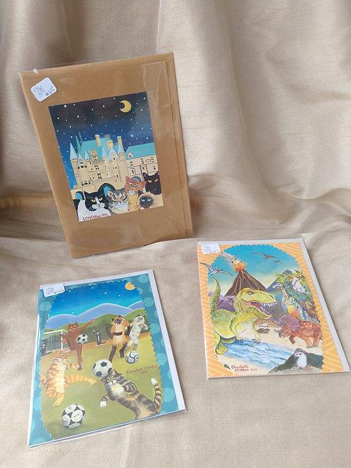 McAfee animated card set of 3