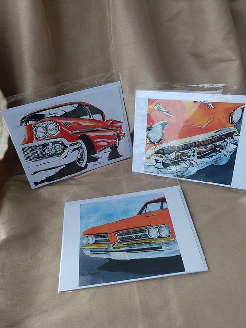 Car Lovers card set