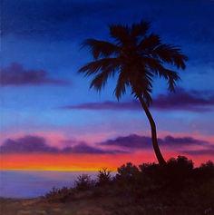 Paradise 16x16 oil on canvas Vicki Van V