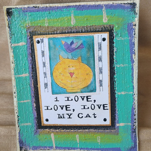 Love My Cat Magnet
