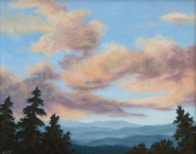 Blue Ridge Clouds  8x10 oil on canvas  $