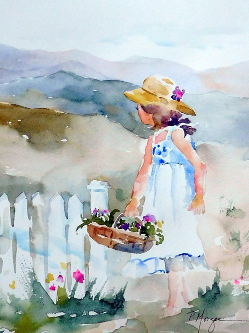 Girl in the Blue Ridge Garden