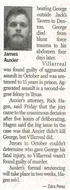 James Auxier death probation denton record chronicle
