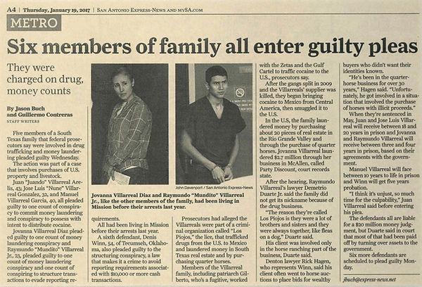 San Antonio Express-News Six members of family all enter guilty pleas south texas juan juando villarreal arelis