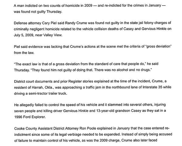 man found not guilty in 2009 homicide randy crume casey and gervious hinkle valley view