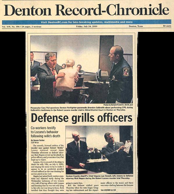 Denton record chronicle defense grills officers lozano murder case