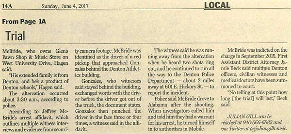 Denton record chronicle McBride murder trial set to start jeffrey mcbride