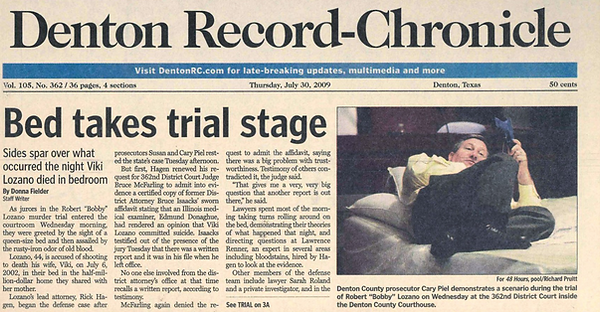 Denton Record Chronicle Bed Takes Trial Stage Newspaper Lozano
