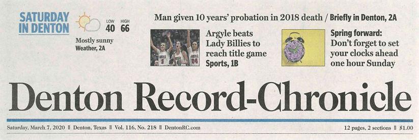 Denton Record Chronicle James Auxier death probation